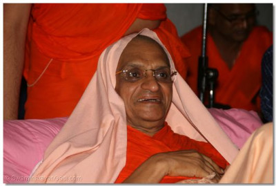Acharya Swamishree keenly watches the games