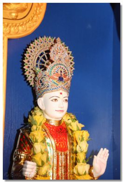 Murti at ghar mandir in Shree Hari Complex