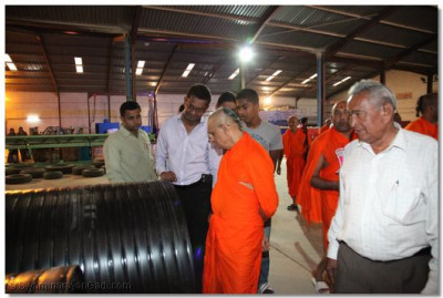 Padharamani at Gentex factory