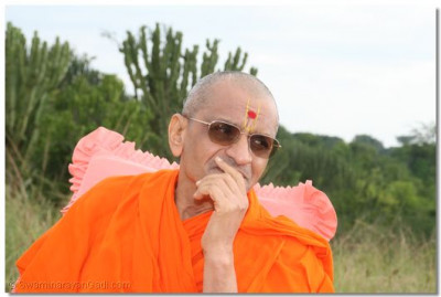 Divine darshan of HDH Acharya Swamishree- Mweya Lodge