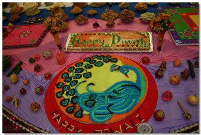 Rangoli design and Diwali Cake