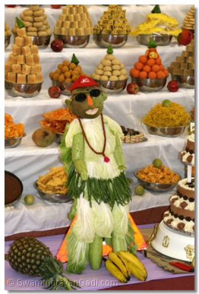 A varieties disciple skilfully crafted using raw vegetables forms part of the ankot