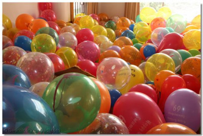 Thousands of balloons were filled for the occassion