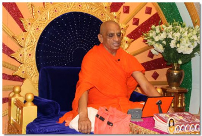 Divine darshan of His Divine Holiness Acharya Swamishree