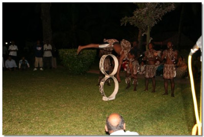 Traditional African Ghoma dancers perform to please the Lord
