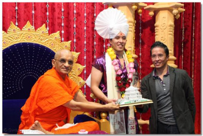 Mr.Martin and his brother blessed by HDH Acharya Swamishree