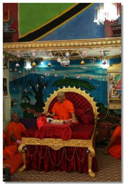 HDH Acharya Swamishree showers His divine blessings
