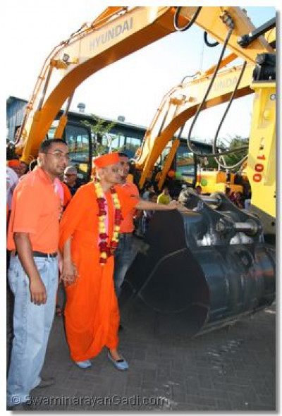 Acharya Swamishree looks at the number of different equipment used by this company to function