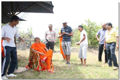 Not wanting to be left out, others devotees come forward to please Acharya Swamishree