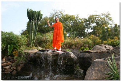 HDH Acharya Swamishree at the lodge