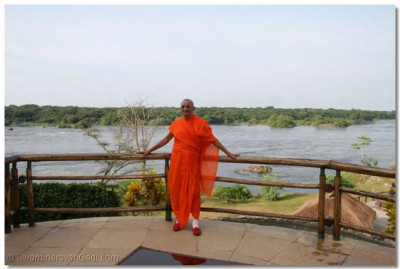His Holiness at the bank of River Nile