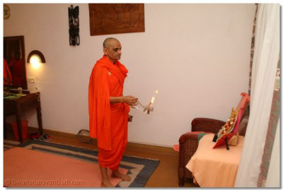 Mangla Aarti at the lodge on 24th January 2011