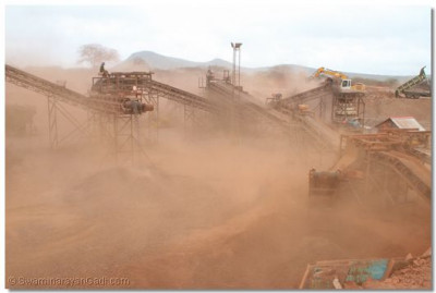 Iron-ore processing plant