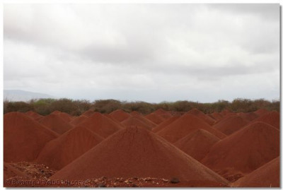 The waste after extracting iron-ore is returned back to fill the excavated land