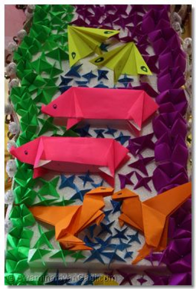 A closer look at the shapes made by paper folding