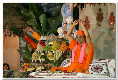 """Jay Ho!, jay jay kaar Ho!"" at the commencement of Divine Ashirvad"