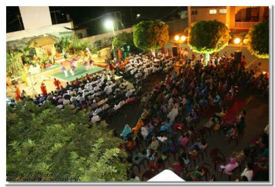 An aerial view of the congregation during the Shakotsav festival