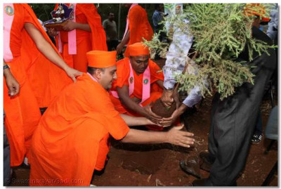 Tree planting ceremony by sants