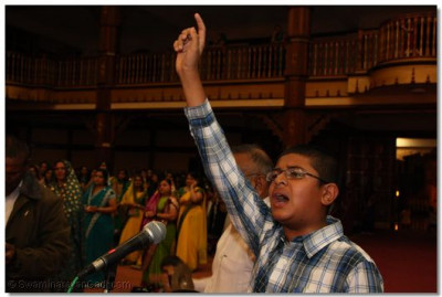 Young devotee recites the 'chhadi'