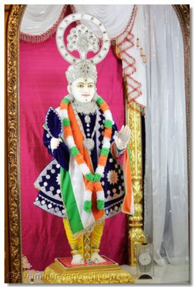 Divine darshan of Lord Swaminarayan on Indian independence day