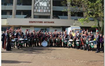 H H Swamibapa Pipe Band performs at swearing-in of Kenyan president 2013 (updated)
