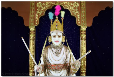 Divine darshan of Lord Shree Swaminarayan.