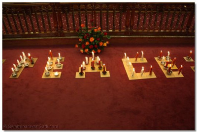 Candles conveying message of peace