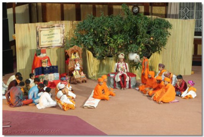 A set created to represent lohya gaam 194 years back.