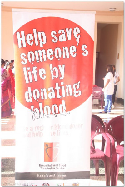 The motto for blood donation