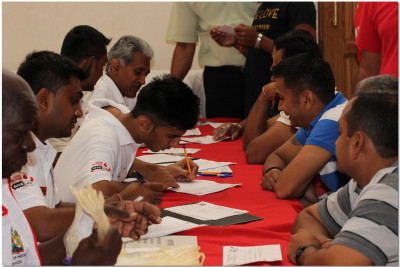 Volunteers register various for blood donation
