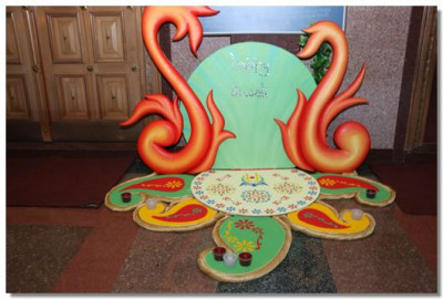 One of many hand crafted rangoli displays