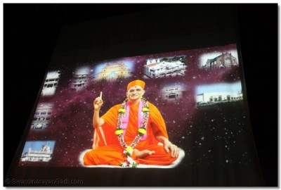 A projection of Acharya Swamishrees vicharan.