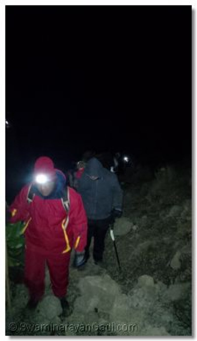 Starting the 4km summit to Lenana Peak at 2.30am