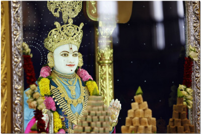 Annkut thar offerings to Lord Swaminarayan.