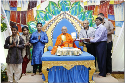 Opening of holy books during the 62nd Patotsav