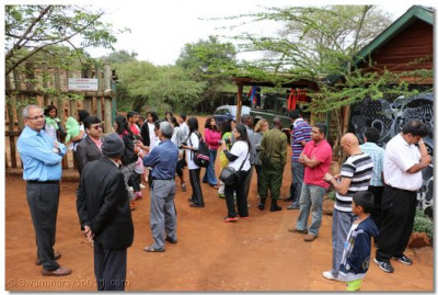 Devotees arrive at the David Sheldrik Wildlife Trust.