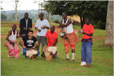 A devotee joins the ngoma performance