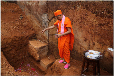 Laying foundation stone of new buildings at Shree Hari Complex