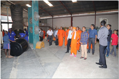 Padharamani at plastic tank factory