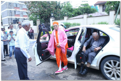 Arrival of Acharya Swamishree