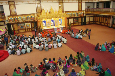 Devotees present at the event