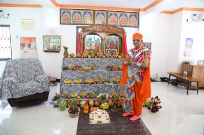 Annakut darshan in the Swamibapa Prathna Hall