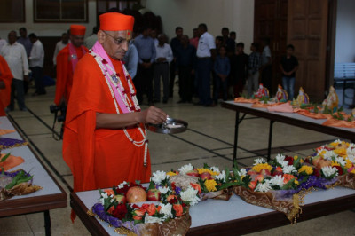 Consecration of chhaabs by Acharya Swamishree