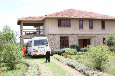 Arrival of sant mandal at The Great Rift Valley Lodge and Resort
