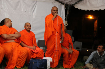 One of the sant's sing a kirtan to please Lord Swaminarayan Bapa Swamibapa