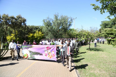 The Students also took part in the rally