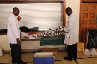 The Kenya National Blood Transfusion Services team at work