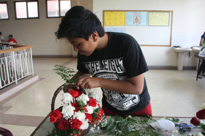 Flower arrangements done by students of Swamibapa Education Center