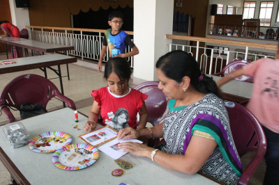Diwali cards done by students of Swamibapa Education Center