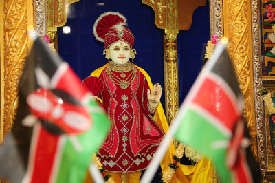 Divine darshan of Lord Shree Swaminarayan on Kenya's 53rd Jamhuri day